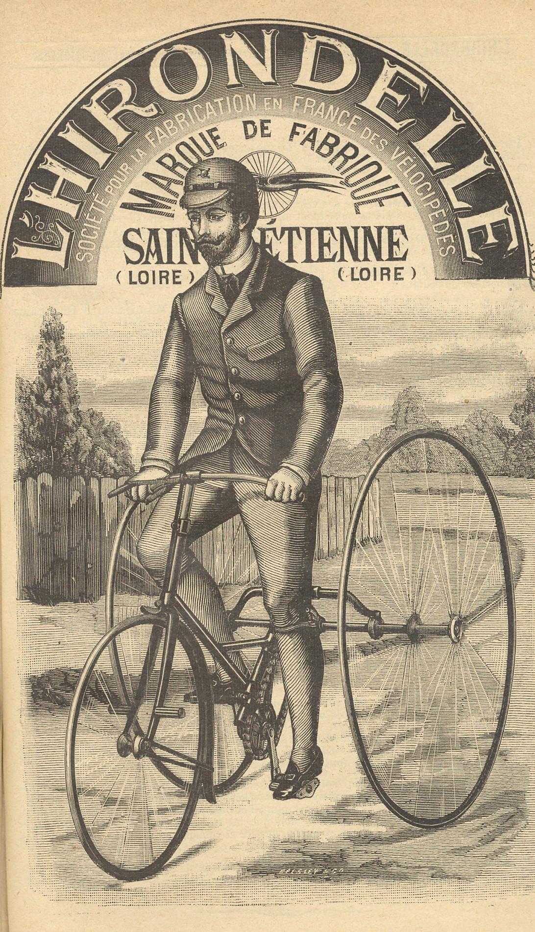 Un stéphanois sur son vélocipède